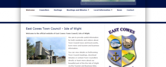 Town Council Website Design
