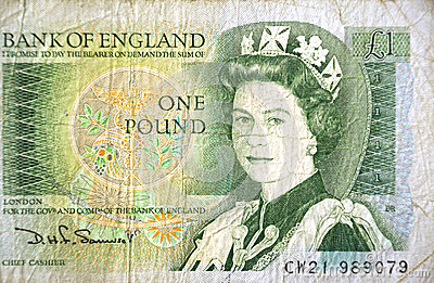 one pound note